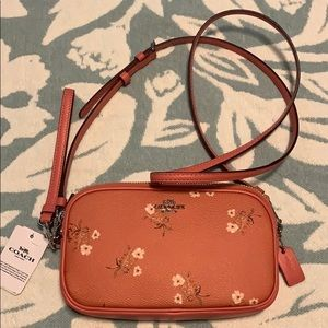 Coach floral SV/ bright coral bow crossbody